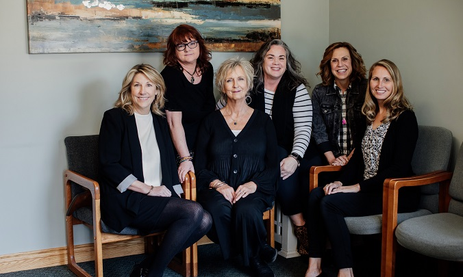 Lakeview Counseling therapists Janet Hughes, Jill Kimball, Laura Slaughter, Barb Cain, Darcy Britten and Michelle Newman